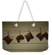 Burnt Toast Hanging On Clothesline Weekender Tote Bag
