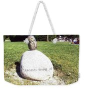Burrowing Owl Meets Poetry Stones Of Crescent Beach Weekender Tote Bag