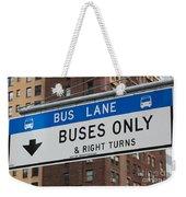 Buses Only I Weekender Tote Bag