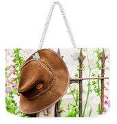 Bush Hat On Railing Weekender Tote Bag