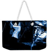 Bustin Out For Blue Winterland Weekender Tote Bag