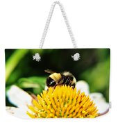 Busy Bee Collecting On Echinacea Pow Wow Weekender Tote Bag