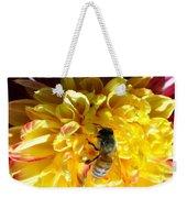 Busy Bee On Yellow Flower Weekender Tote Bag