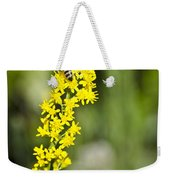 Busy Bee On Yellow Wildflower Weekender Tote Bag