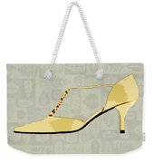 Butter Yellow Leather T Strap Heel Weekender Tote Bag