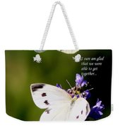 Butterflies - Cabbage White - Enjoyed The Togetherness Weekender Tote Bag