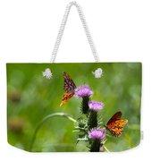 Butterflies On Thistles Weekender Tote Bag