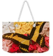 Butterfly And Buttons Weekender Tote Bag