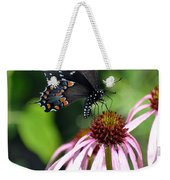Butterfly And Coine Flower Weekender Tote Bag