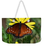 Butterfly And Yellow Flowers Weekender Tote Bag