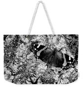 Butterfly Bark Black And White Weekender Tote Bag