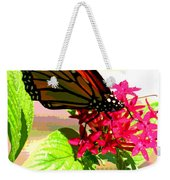Butterfly Flowers Weekender Tote Bag