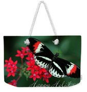 Butterfly Holiday Card Weekender Tote Bag