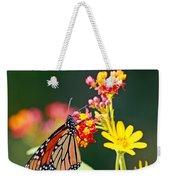 Butterfly Monarch On Lantana Flower Weekender Tote Bag