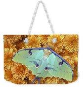 Butterfly On Flowers Weekender Tote Bag