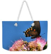Butterfly On Mimosa Blossom Weekender Tote Bag