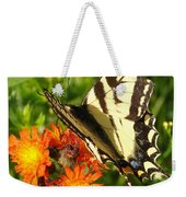 Butterfly On Orange Flowers Weekender Tote Bag