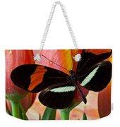 Butterfly On Orange Tulip Weekender Tote Bag