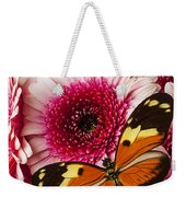 Butterfly On Pink Mum Weekender Tote Bag