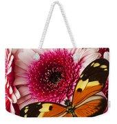 Butterfly On Pink Mum Weekender Tote Bag