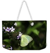 Butterfly On Purple Flower Weekender Tote Bag