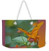 Butterfly Orange 16 By 20 Weekender Tote Bag