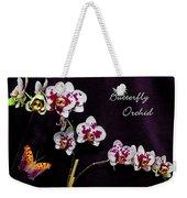 Butterfly Orchid Weekender Tote Bag