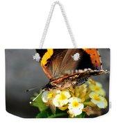 Butterfly Sipping Lantana Luscious Lemonade   Weekender Tote Bag