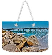 By The Pier Weekender Tote Bag by Betsy Knapp