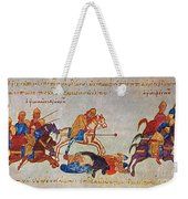 Byzantines Cavalrymen Pursuing The Rus Weekender Tote Bag