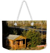 Cabin On The River Weekender Tote Bag