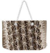 Cactus 19 Sepia Weekender Tote Bag