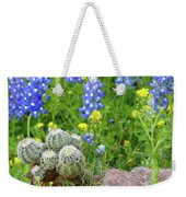 Cactus And Bluebonnets 2am-28694 Weekender Tote Bag