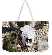 Cactus And Cow Skull Weekender Tote Bag