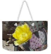 Cactus Flower 2 Weekender Tote Bag by Snake Jagger