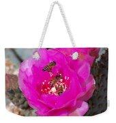 Cactus Flower Buzz Weekender Tote Bag