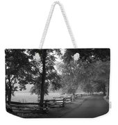 Cades Cove Tennessee In Black And White Weekender Tote Bag