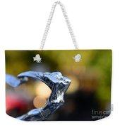 Cadillac Goddess Hood Ornament Weekender Tote Bag by Paul Ward
