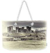 Caerphilly Castle Cream Weekender Tote Bag