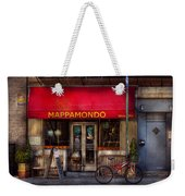 Cafe - Ny - Chelsea - Mappamondo  Weekender Tote Bag by Mike Savad