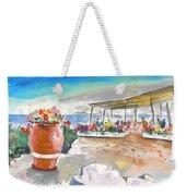 Cafe On Agios Georgios Beach Weekender Tote Bag