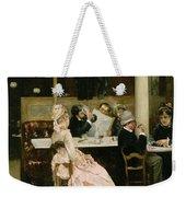 Cafe Scene In Paris Weekender Tote Bag by Henri Gervex