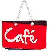 Cafe Sign Weekender Tote Bag