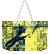 Caliente Geometric Yellow Weekender Tote Bag