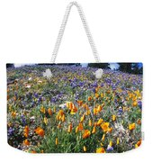 California Poppies And Lupins On A Hill Weekender Tote Bag