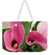 Calla Lilies In Pink Weekender Tote Bag