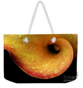 Calla Lily Against Black Weekender Tote Bag