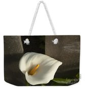 Calla Lily And Fence Weekender Tote Bag