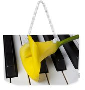 Calla Lily On Keyboard Weekender Tote Bag