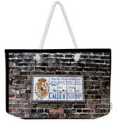 Calle D Borbon Weekender Tote Bag by Bill Cannon